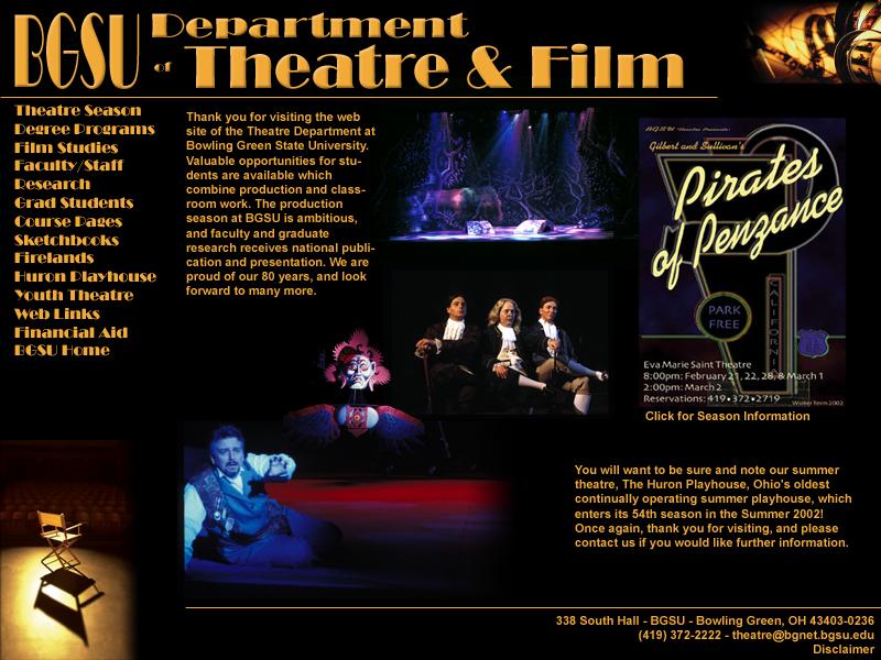 BGSU Department of Theatre and Film